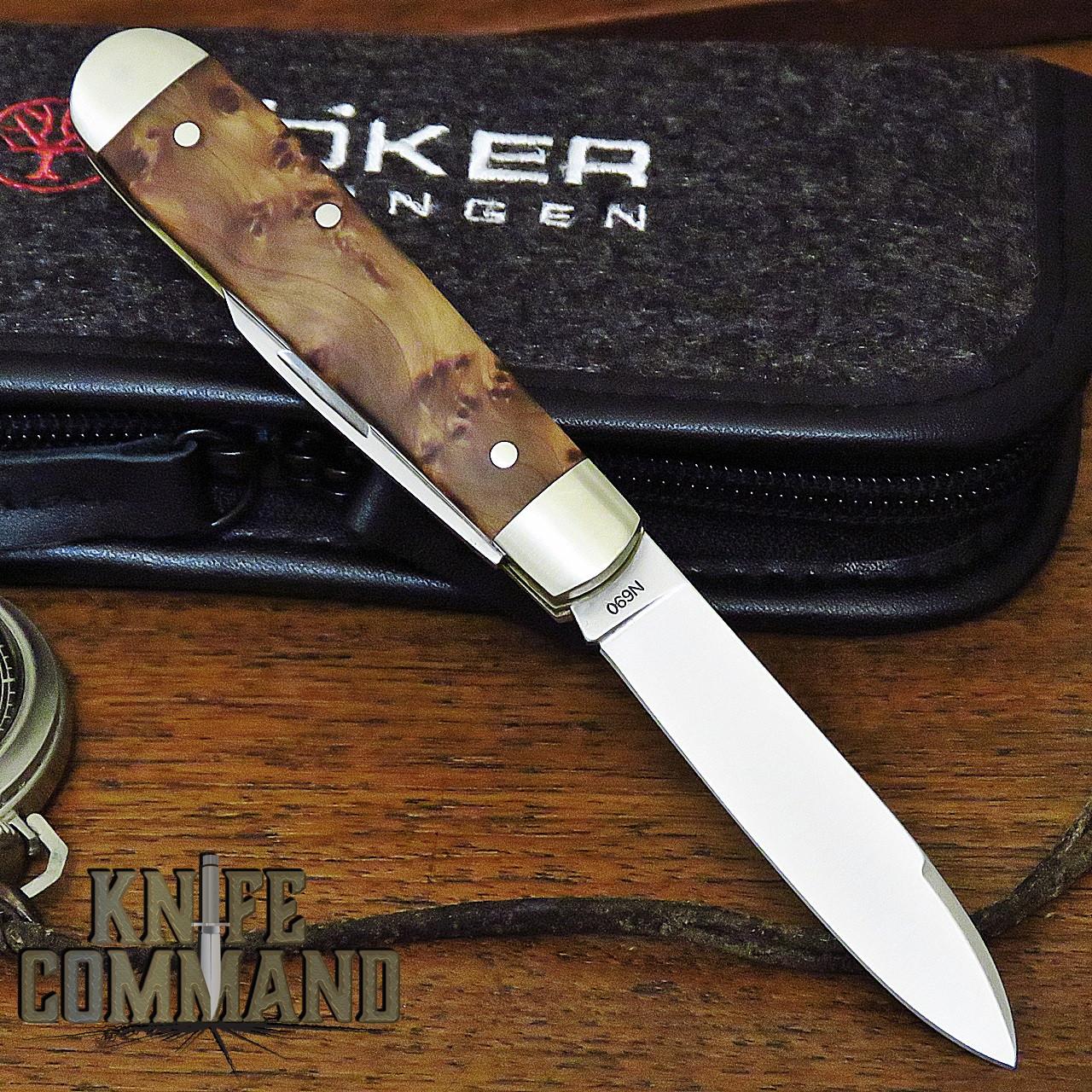 Boker Knives Swell-End Jack Knife Thuya Burl Model 110916 Slip Joint 2 Blade