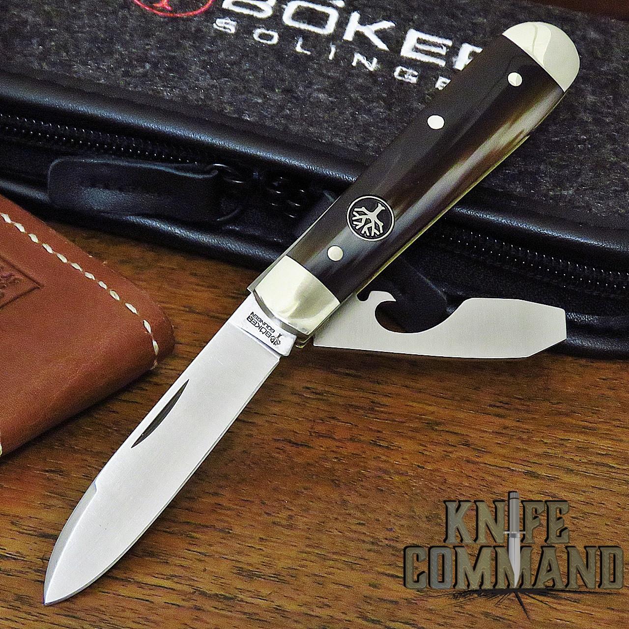 Boker Knives Swell-End Jack Knife Horn Model 111916 Slip Joint 2 Blade