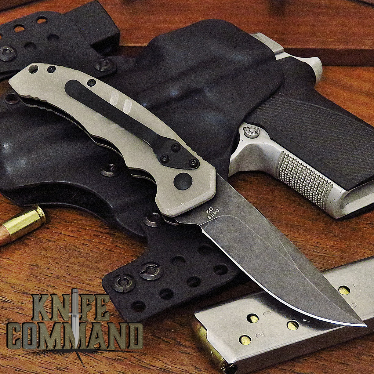 Boker Plus Intention II Automatic Knife Coyote Tan / Dark Stonewash 01BO483
