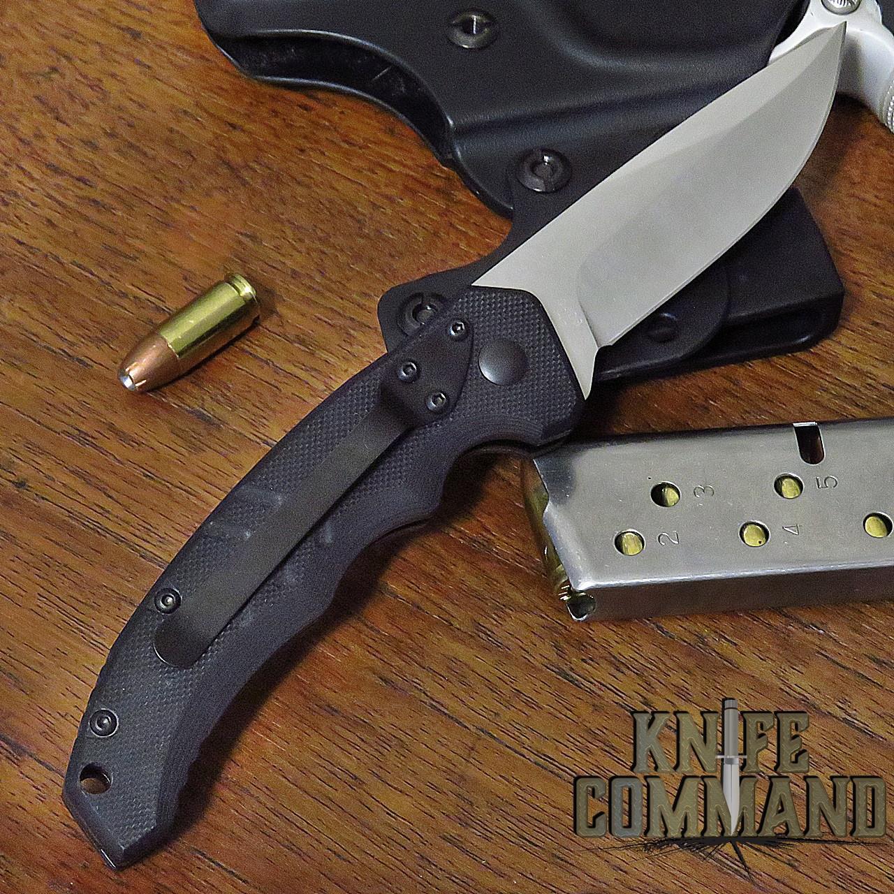 Boker Plus Intention II Automatic Knife Black / Stonewash 01BO482