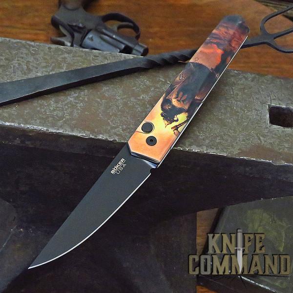 Boker Pro-Tech Burnley Frazetta Death Dealer Kwaiken Automatic Knife 06EX294
