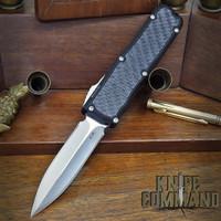 Guardian Tactical Custom Recon-035 OTF Reese Weiland Double Edge Satin Elmax Carbon Fiber Automatic Knife 92731