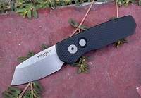 "Pro-Tech Knives R5205 Runt 5 Automatic Folder Knife Folder 1-15/16"" Reverse Tanto CPM-20CV Stonewashed Blade"