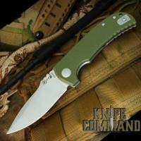 Spartan Blades Astor Les George Folder Liner Lock Green G-10 Knife SFBL8GR