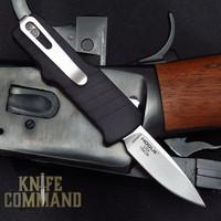 "HK Micro Incursion OTF Automatic: 1.95"" Clip Point Blade - Stone Tumbled Finish, Matte Black Aluminum Frame 54030"
