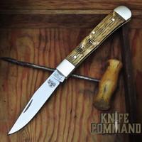 Boker Trapper Limited Edition Model 115004 Asbach Uralt Limousin Oak Slip-Joint Pocket Knife