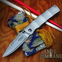 Mcusta MC-33D Take Bamboo Style 33 Layer Damascus Folding Knife