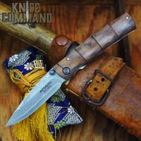 Mcusta MC-74DI Take Ironwood Bamboo Style 33 Layer Damascus Folding Knife