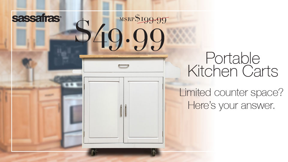 Sassafras® Kitchen Cart