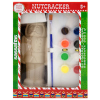 Sassafras Paint  Your Own Nutcracker Kids Activity Craft Kit with Paints and Ceramic Figure