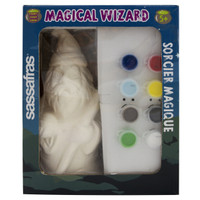 Sassafras Paint Your Own Wizard Activity Craft Kit with Paints and Ceramic Figure