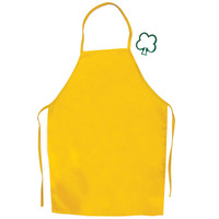 The Little Cook®  Yellow Apron with Shamrock Cookie Cutter