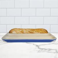 Baguette Baker, Glazed - Blue