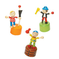 Push Toy Pirates-- Peg Leg & Friends, Set of 3