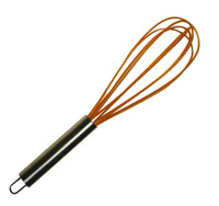 The Little Cook™ Silicone Whisk, Orange