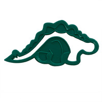 Green Stegosaurus Cookie Cutter-- Set of 8
