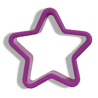 Purple Star Cookie Cutter-- Set of 8