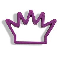 Purple Crown Cookie Cutter-- Set of 8