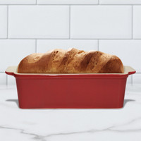 Superstone®  Loaf Pan with Red Glazed Exterior and Unglazed Interior