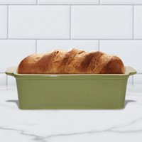 Superstone®  Loaf Pan with Green Glazed Exterior and Unglazed Interior