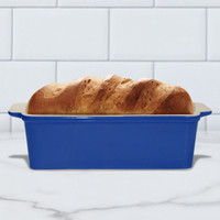 Superstone®  Loaf Pan with Blue Glazed Exterior and Unglazed Interior