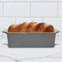 Superstone®  Loaf Pan with Grey Glazed Exterior and Unglazed Interior