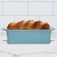 Superstone®  Loaf Pan with Aqumarine Glazed Exterior and Unglazed Interior
