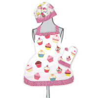 Ruffled Cupcake Apron Set