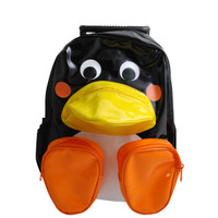 Vinyl Penguin Pull-Along Backpacks