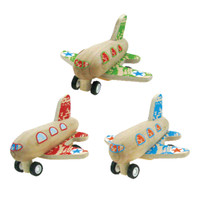 Wooden Pull-Back Toy Airplanes, Set of 3