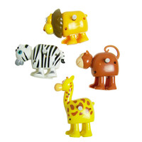 Safari Wind-Up Toys, Set of 4