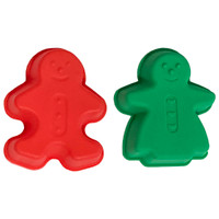 Gingerbread Boy and Girl Silicone Mold Set
