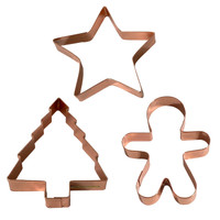 Holiday Copper Cookie Cutters