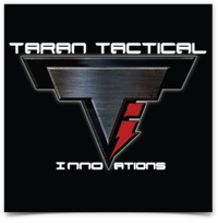 Taran Tactical Innovations Logo  Black Background