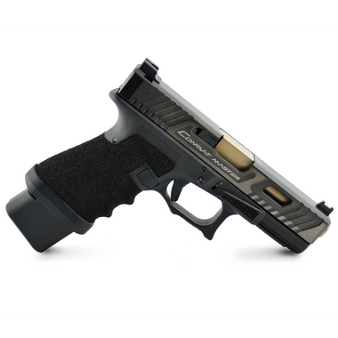 Gen 3 Glock Full Wrap w/ Finger Grooves, Grip Reduction, Double Undercut and Accelerator Cut.