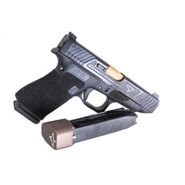 Misura for Glock 43 migliorata Magazine Interno Base Pad Piastra Forma for 9 Millimetri 6rd Pistol Plus 2-Round G43 Mag Grip Telaio Plug Colore : Nero LIXIA-Gun