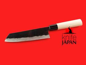 "Iwami Okamitsu Hamono | Black-forged Kairyo-bocho | 170mm・6.7"" | Aogami #2 | Knife Japan"