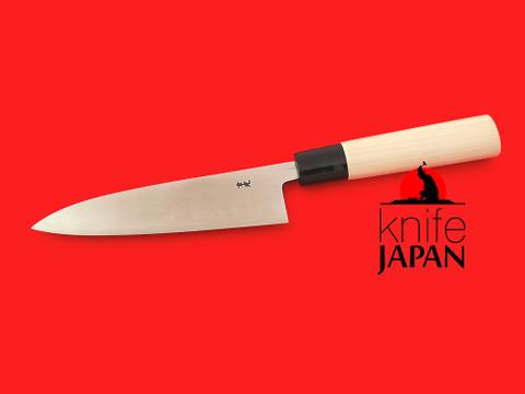 "Unshu Yukimitsu Hamono 'Migaki' Polished Petty Knife   120mm・4¾""   Shirogami #1   Knife Japan"