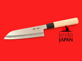 Unshu Yukimitsu Hamono polished santoku | 170mm・6.7"