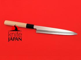 Unshu Yukimitsu Hamono Kataha Yanagiba 205mm Octagonal Hiba