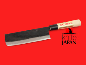 Iwami Okamitsu Hamono | Kurouchi Black-forged Nakiri | 185mm・7.3"