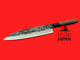 "Kawatsu Hamono Black-forged Gyuto | 260mm・10¼"" | Knife Japan"