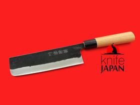 "Kawatsu Hamono | Stainless Black-forged Nakiri | 165mm・6.5"" | Knife Japan"