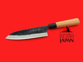 "Kawatsu Hamono Santoku | Stainless-clad aogami#2 | 165mm・6½"" | Knife Japan"