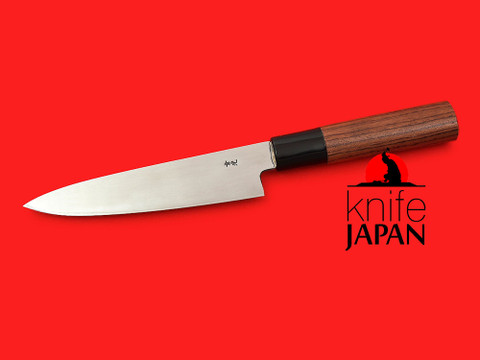"Unshu Yukimitsu Hamono Petty Knife | 135mm・5.3"" | Bubinga handle | Knife Japan"