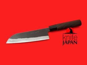 "Nakamura Hamono | Nojiyama Marunaka kurouchi stainless santoku-bocho | 165mm・6½"" | Knife Japan"