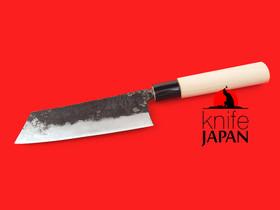"Kuwahara Kaji Kobo | Kurouchi Santoku bocho | 150mm・5.9"" | Knife Japan"