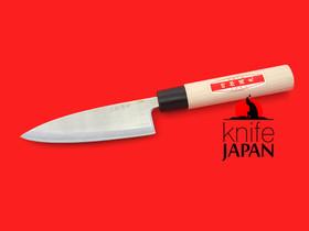 "Shiro Kunimitsu | Ryoba ajikiri | 110mm ・ 4.3"" | Stainless-clad shirogami#1 | Knife Japan"