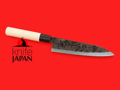 "Shiro Kunimitsu   Black-forged yanagiba-bocho   170mm ・ 6.7""   Shirogami #1   Knife Japan"