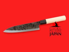 "Shiro Kunimitsu | left-handed kurouchi yanagiba-bocho | 170mm ・ 6.7""  | Shirogami #1 | Knife Japan"